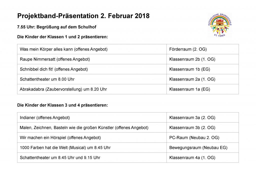 Projektpräsentation | Schule Tönisvorst